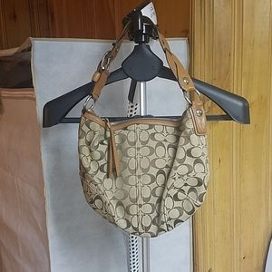 Genuine Coach Purse with Braided Strap